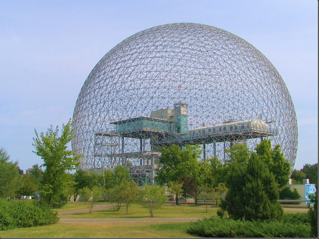 Montreal Biosphere  Geodesic dome was the U.S. pavilion at the World Expo 1967