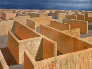 """Labyrinth"" Painting by Jeffrey Smart From theaustralian.com.au"