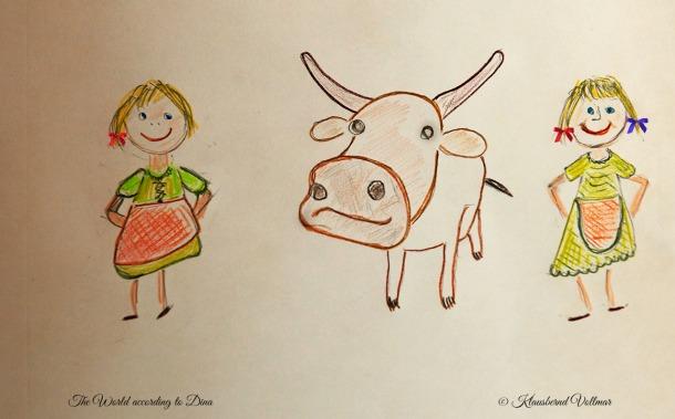 SSS Siri Selma Selfie with cow
