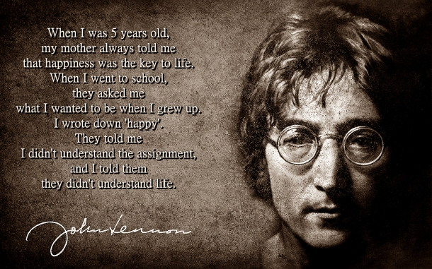 John Lennon - Happiness Quote - 07